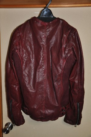 VINTAGE LEATHER DAMAGE RIB JACKET2