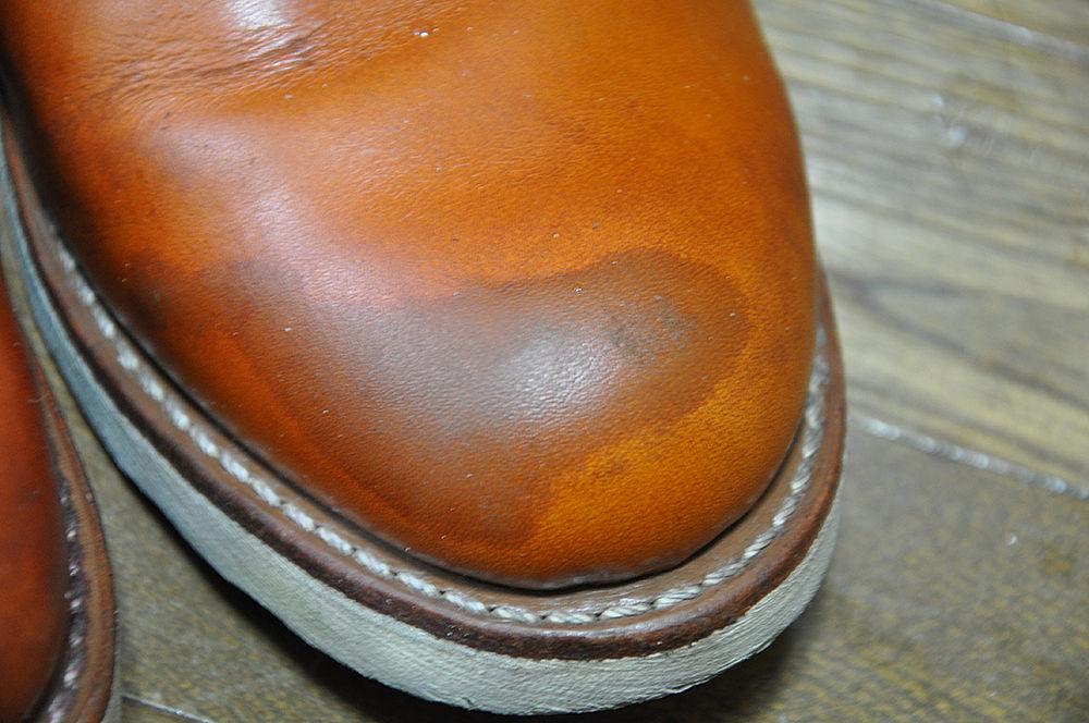 雨ジミ 革靴