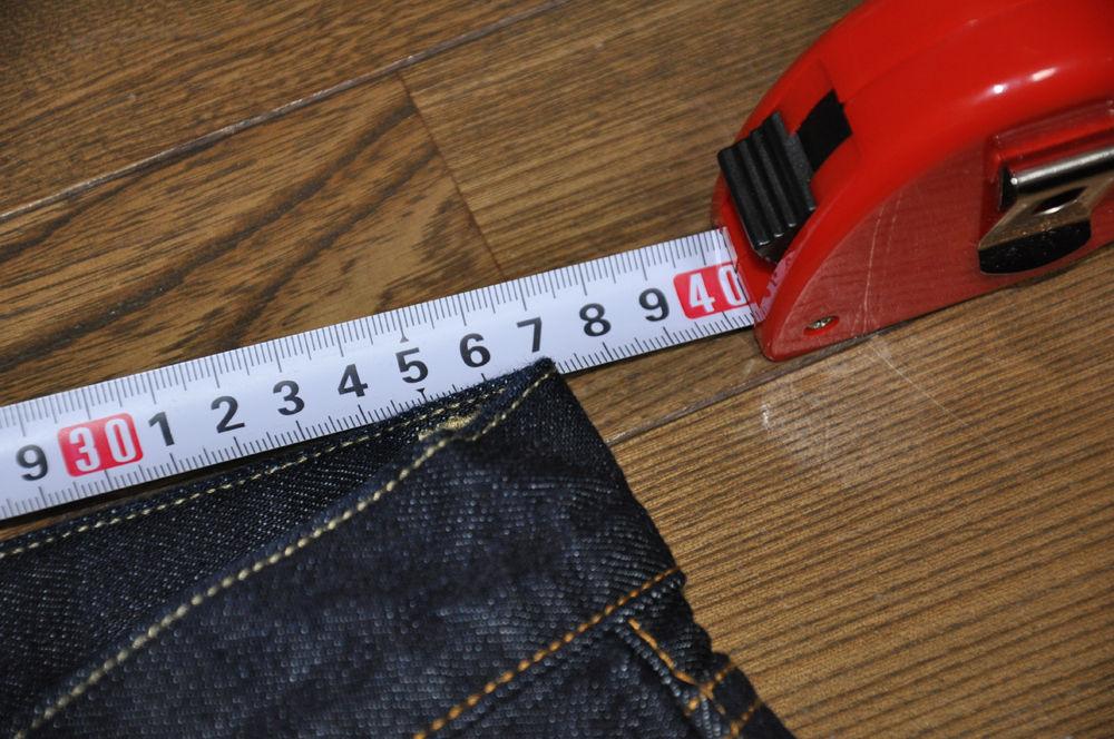 ユニクロ 旧セルビッジデニム計測1回目