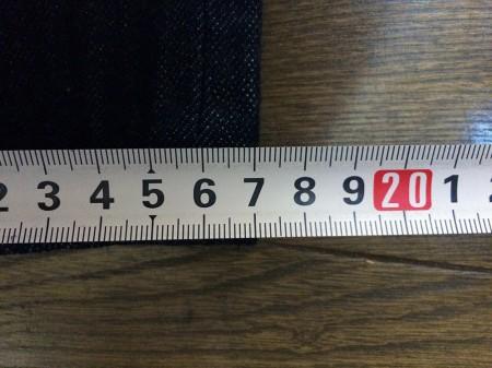 ラグスマックレガー デニムの裾幅